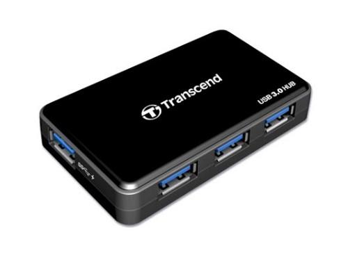 Transcend HUB3 interface hub 5000 Mbit/s Black
