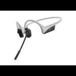 Aftershokz ASC100LG headphones/headset Ear-hook, Neck-band USB Type-C Bluetooth Grey, White