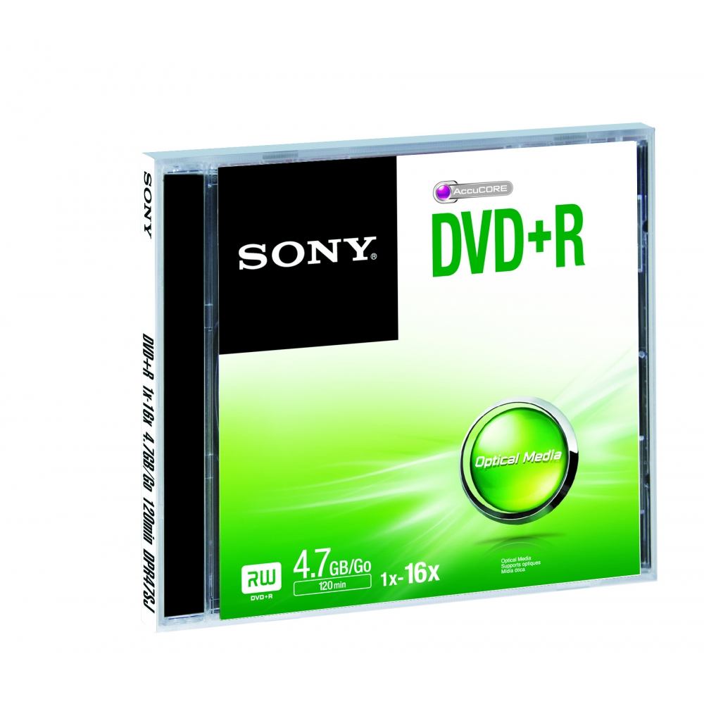 SONY DVD+R 16X JEWEL CASE