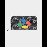 Nintendo SNES AOP Zip Around Wallet Multicolour