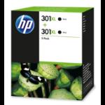 HP D8J45AE (301XL) Printhead cartridge black, 480 pages, 8ml, Pack qty 2