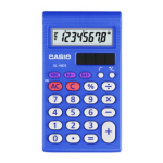 Casio SL-450S Pocket Financial calculator Blue calculator