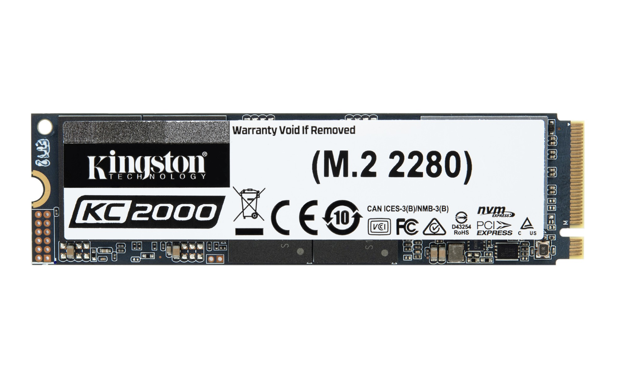 Kingston Technology KC2000 M.2 1000 GB PCI Express 3.0 3D TLC NVMe