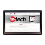 """faytech FT156TMBCAP touch screen monitor 39.6 cm (15.6"""") 1920 x 1080 pixels Black Multi-touch Tabletop"""