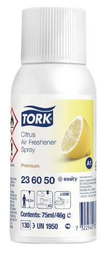 Tork 236050 liquid air freshener Spray air freshener White Citrus 75 ml 46 g