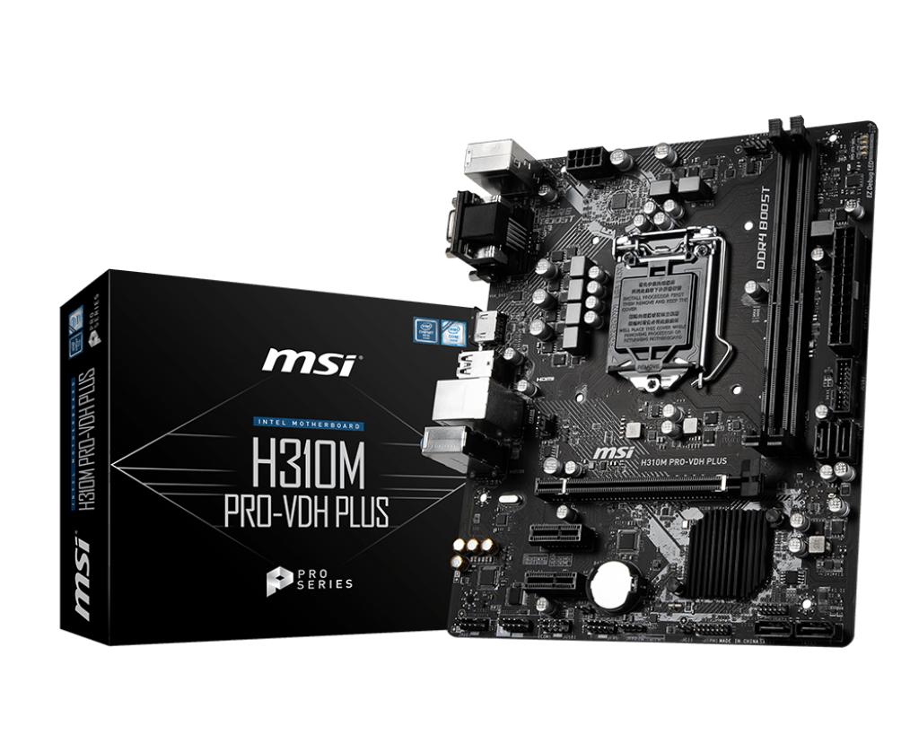 MSI H310M PRO-VDH PLUS motherboard LGA 1151 (Socket H4) Micro ATX Intel® H310