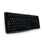Logitech K120 keyboard USB Greek Black