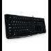 Logitech K120 teclado USB Griego Negro