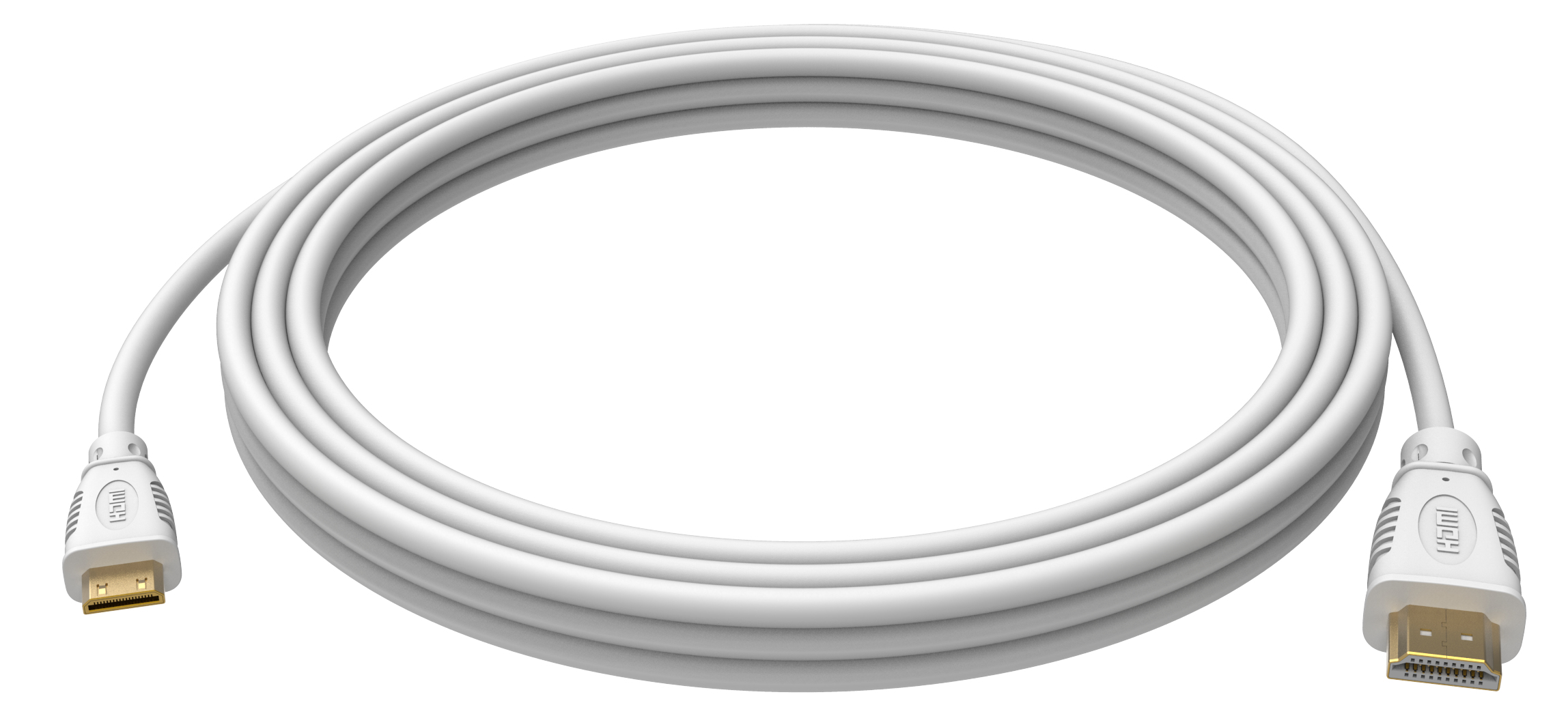 Vision TECHCONNECT 1M MINI-HDMI to HDMI CABLE Engineered connectivity solution, White, 4K compliant, High-S