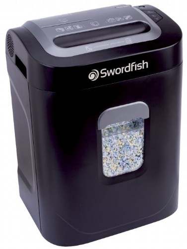 Swordfish 1200XXCD paper shredder Particle-cut shredding 22 cm 50 dB Black