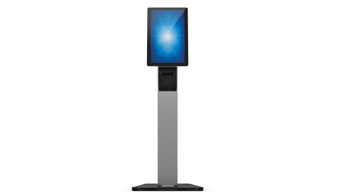 Elo Touch Solution ELO Stand Self Service Floor Carro para administración de tabletas Negro, Plata Impresora
