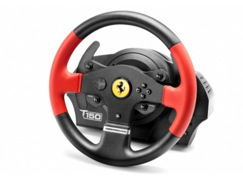 Thrustmaster T150 Ferrari Wheel Force Feedback Steering wheel PC, PlayStation 4, Playstation 3 USB Black, Red