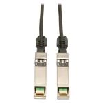 Tripp Lite SFP+ 10Gbase-CU Passive Twinax Copper Cable, SFP-H10GB-CU5M Compatible, Black, 5M