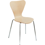 Arista FF ARISTA PICASSO WOOD CHAIR BCH/SIL PK4