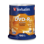 Verbatim DVD-R 4.7GB 16X Branded 100pk Spindle 100 pcs