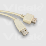 Videk USB A Male to A Female Passive Extension Cable, Beige, 0.5m USB cable