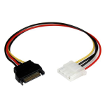 StarTech.com 12in SATA to Molex LP4 Power Cable Adapter - F/M LP4SATAFM12