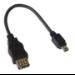 MCL USB-AF/MU5BC adaptador de cable USB A FM Mini USB B M Negro