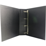 White Box WB PRES 4D RINGBINDER BLACK 50MM
