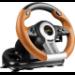 SPEEDLINK DRIFT O.Z. Black, Grey, Orange USB Steering wheel + Pedals Analogue / Digital PC
