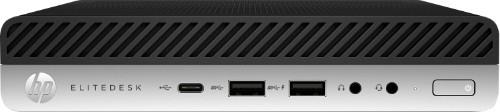 HP EliteDesk 800 G3 7th gen Intel® Core™ i5 i5-7500 8 GB DDR4-SDRAM 256 GB SSD Black,Silver Desktop Mini PC
