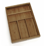 Lipper 8872 Bamboo Walnut Desk Drawer Organizer