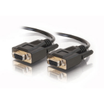 C2G 6ft DB9 F/F Cable - Black 1.8m Black serial cable