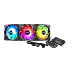 MSI MAX F12A-3H ARGB PWM Performance Case Fan with Controller  - 120mm - Triple Pack