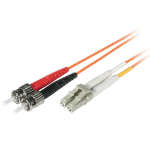 C2G 15m LC/ST fiber optic cable Orange