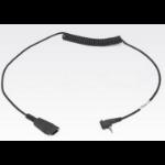 Zebra 25-124411-02R Black audio cable