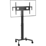 "Vision VFM-F30/W flat panel floorstand 2.29 m (90"") Portable flat panel floor stand Black"