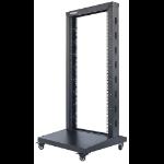 "Intellinet Network Rack - 2-Post Open Frame, 26U, Black, Flatpack, Max 300kg, 19"", Three Year Warranty"