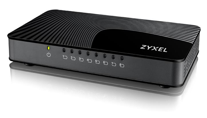 Zyxel GS-108S v2 Gigabit Ethernet (10/100/1000) Negro