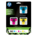 HP 363 3-pack Cyan/Magenta/Yellow Ink Cartridges Original Cian, magenta, Amarillo 3 pieza(s)