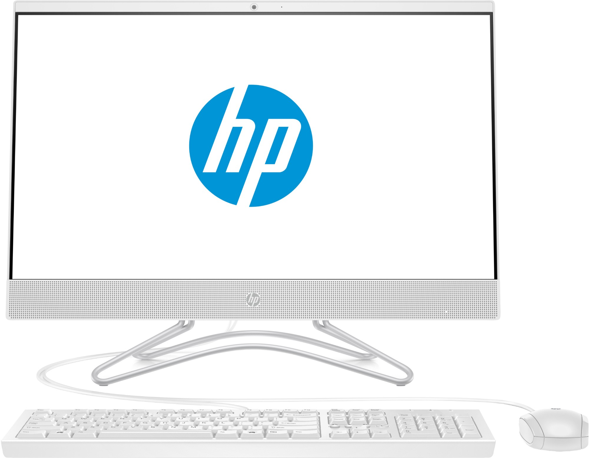 """HP 24 -f0039a 60.5 cm (23.8"""") 1920 x 1080 pixels 2.2 GHz 8th gen Intel® Core™ i3 i3-8130U White All-in-One PC"""