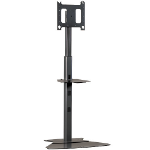 "Chief MF1UB flat panel floorstand 165.1 cm (65"") Fixed flat panel floor stand Black"