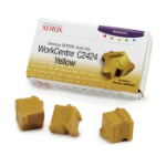 Xerox Genuine WorkCentre C2424 Solid Ink Yellow (3 sticks)