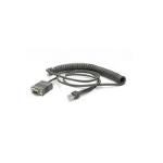 Zebra CBA-R71-C09ZAR serial cable Black 2.8 m RS232 DB9