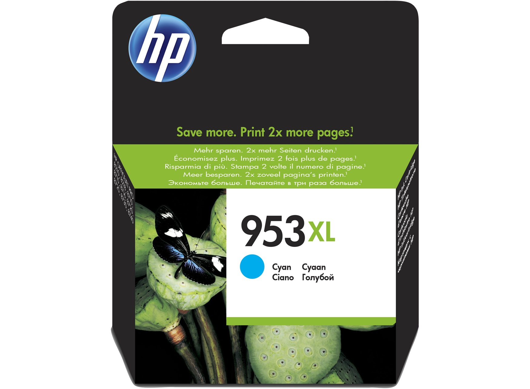 HP 953XL Cyan Original Ink Cartridge 20ml 1600pages Cyan ink cartridge