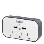 Belkin BSV300TTCW surge protector 3 AC outlet(s) Black, White