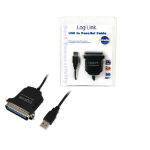 LogiLink AU0003C USB 2.0 A IEEE1248 Black cable interface/gender adapter