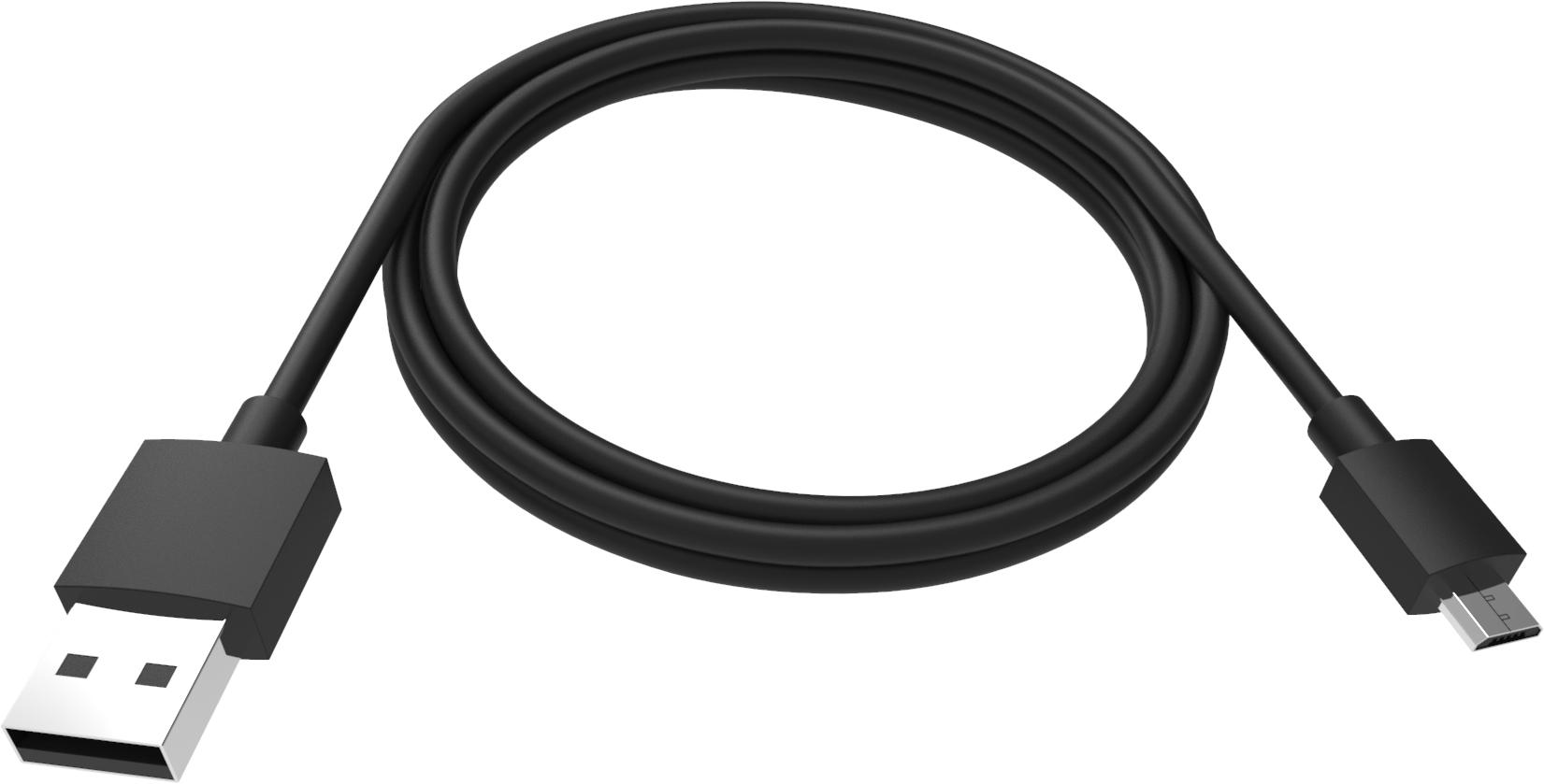 Vision TC-2MUSBM-BL USB cable 2 m 2.0 USB A Micro-USB B Black