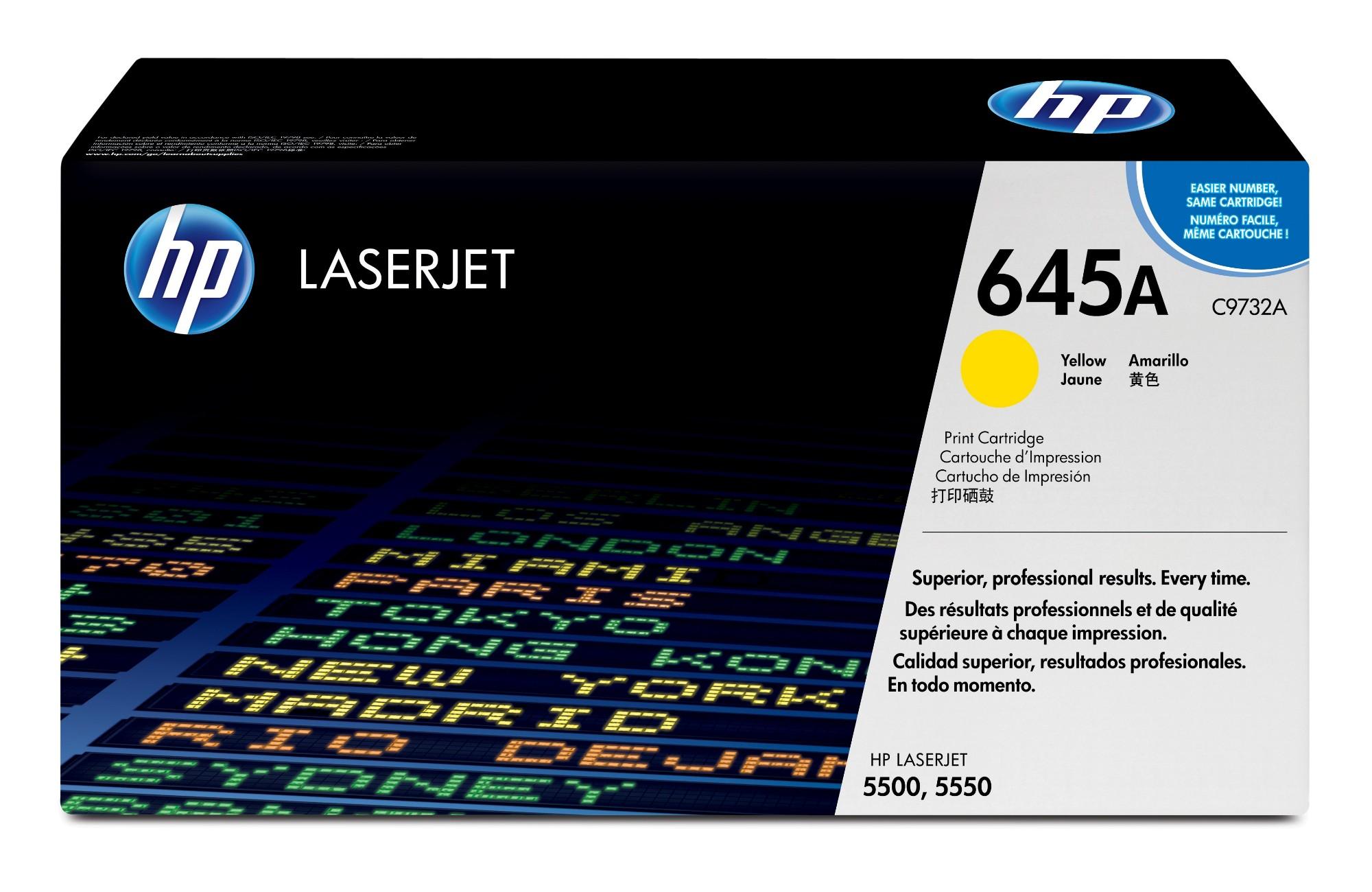 HP 645A Origineel Geel 1 stuk(s)