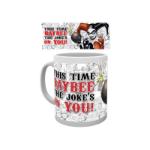 DC COMICS Batman Classic Harley Quinn 'Jokes on You' Ceramic Mug, White (MG0717)