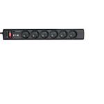 Eaton PS6F Overspanningsbeveiliging 6 AC-uitgang(en) 220 - 250 V Zwart, Wit 1 m