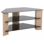 "AVF FS900VAROB-A 42"" Portable Black,Brown flat panel floorstand"