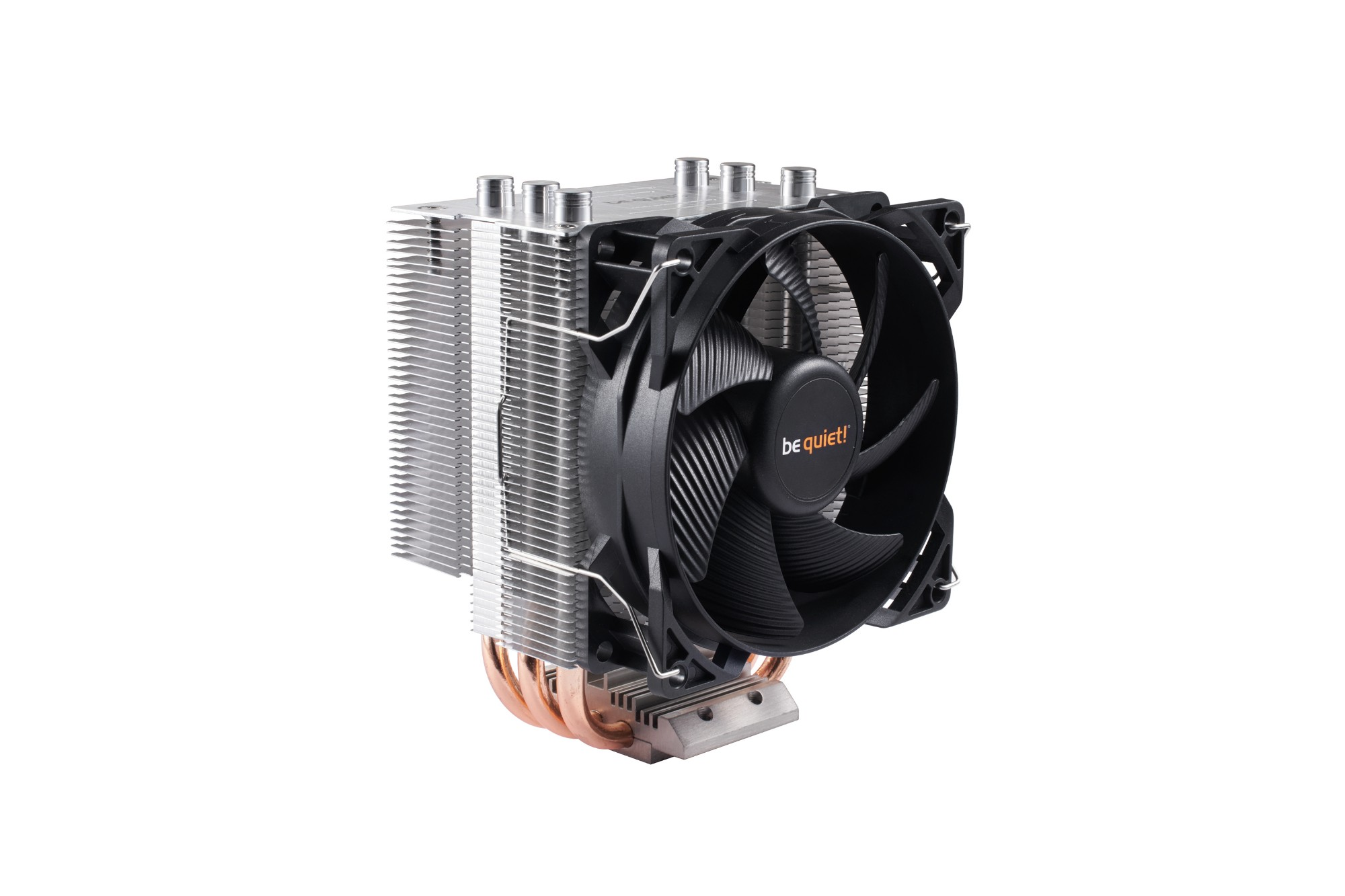 be quiet! Pure Rock Slim Processor Cooler 9.2 cm Black, Copper, Silver