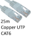 TARGET RJ45 (M) to RJ45 (M) CAT6 25m White OEM Moulded Boot Copper UTP Network Cable