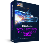Bitdefender Total Security Multi-Device 2017 Full license 3usuario(s) 2Año(s)