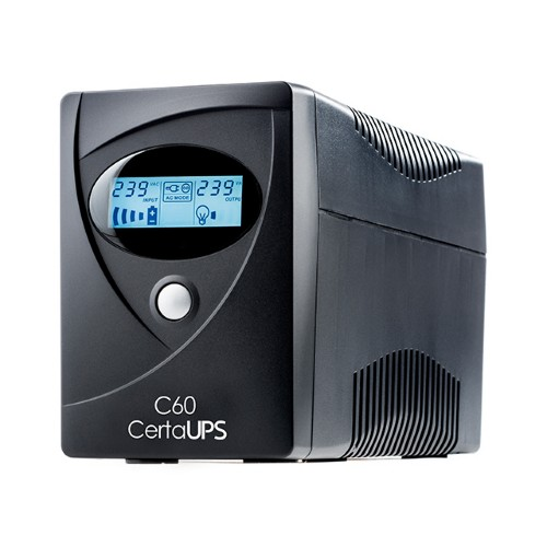 CertaUPS C60-800 uninterruptible power supply (UPS) 4 AC outlet(s) Line-Interactive 800 VA 480 W